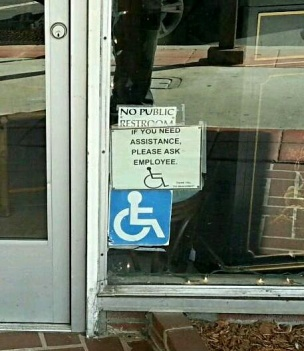 Small business struggling with disabled access issues